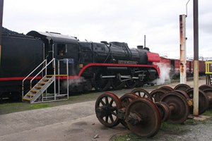 Restored locomotive, Newport