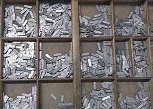 Case of metal type