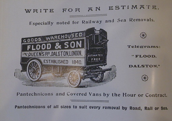 Advertisement for Flood coaches