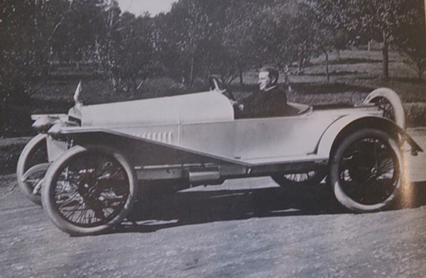James Flood in his Hispano Suiza