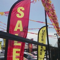 used car bunting