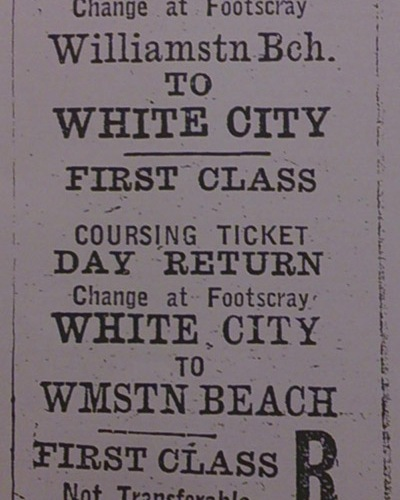 White City ticket