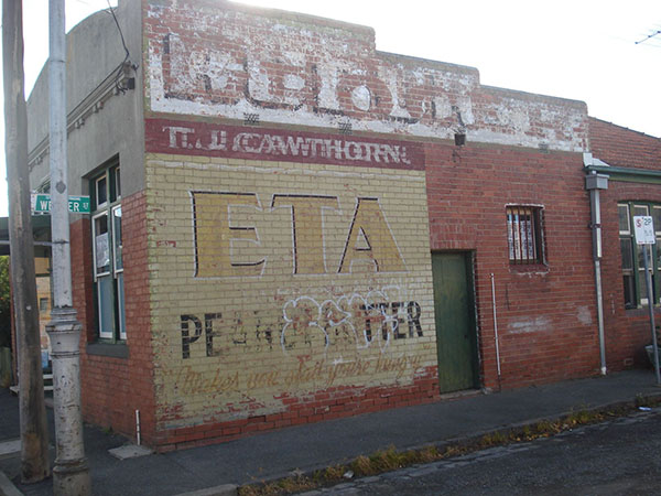 ETA ghost sign in Seddon