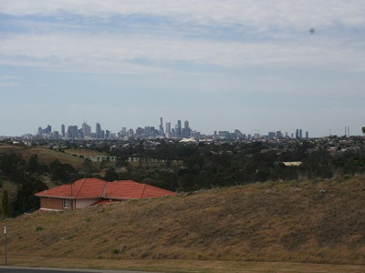 View of Melbourne city from the west