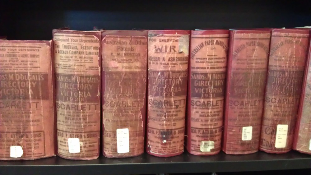 Sands and McDougall directories