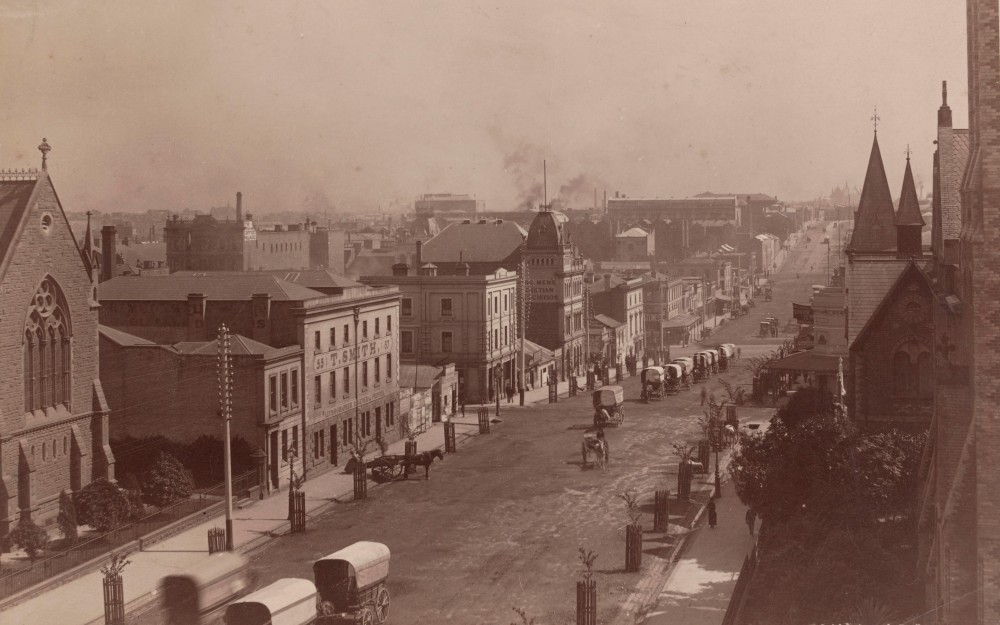 Russell Street in the 1880s