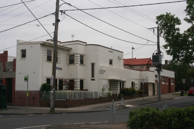 Harry Winbush's moderne house in Essendon.