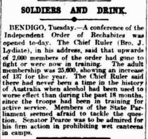 Soldiers and Drink 1916