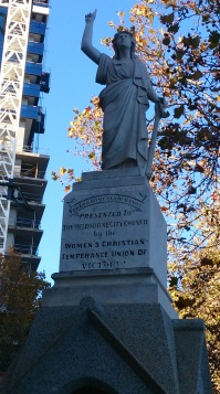 Statue erected by the Women's Christian Temperance Union