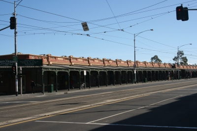 Victoria market covered verandahs