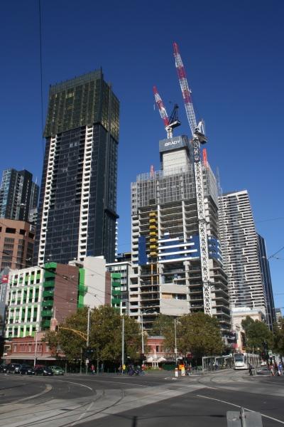 New towers near Victoria Market