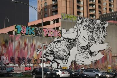 Street art on Mackenzie Street