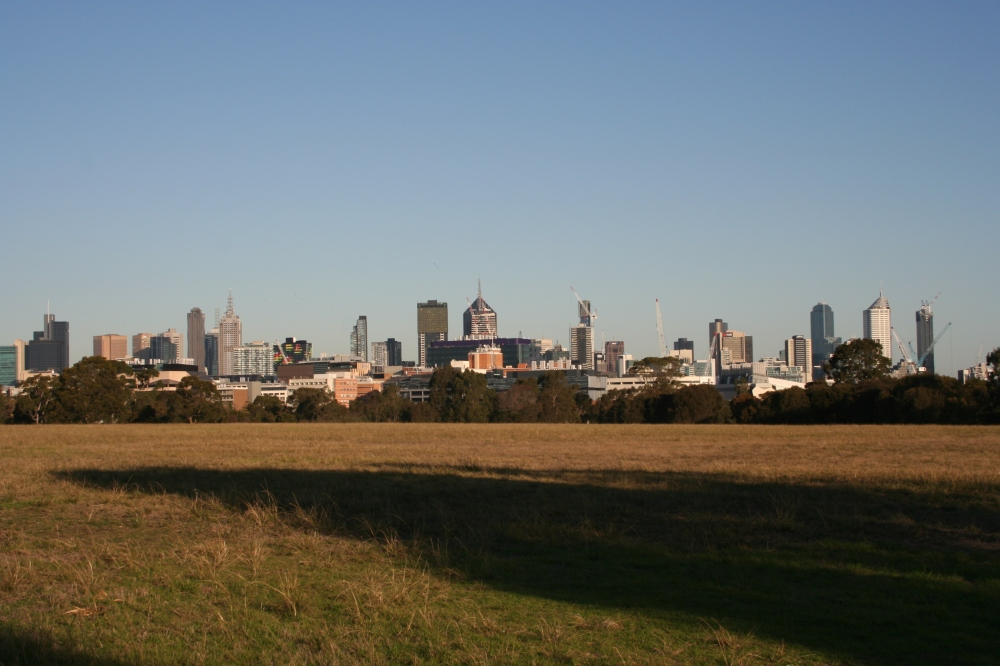 Royal Park with panorama of the city