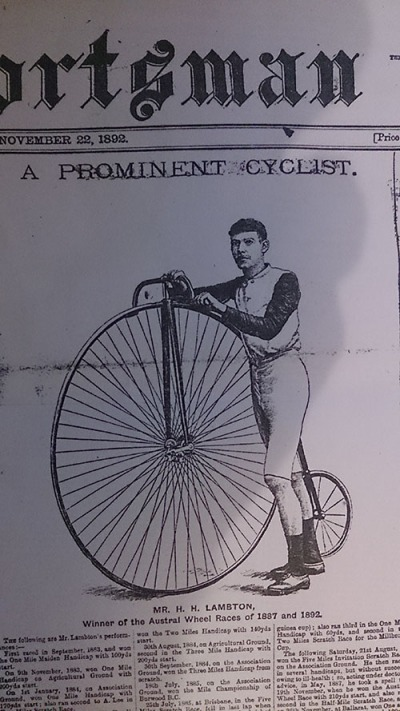A prominent cyclist