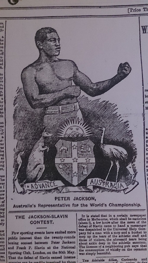 Peter Jackson, boxer