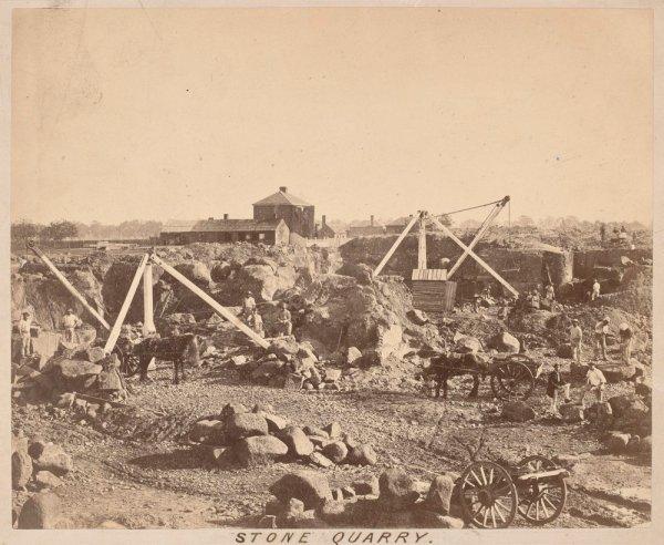 Stone quarry 1860s