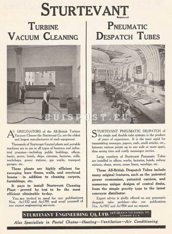 Sturtevant tubes advertisement, 1936