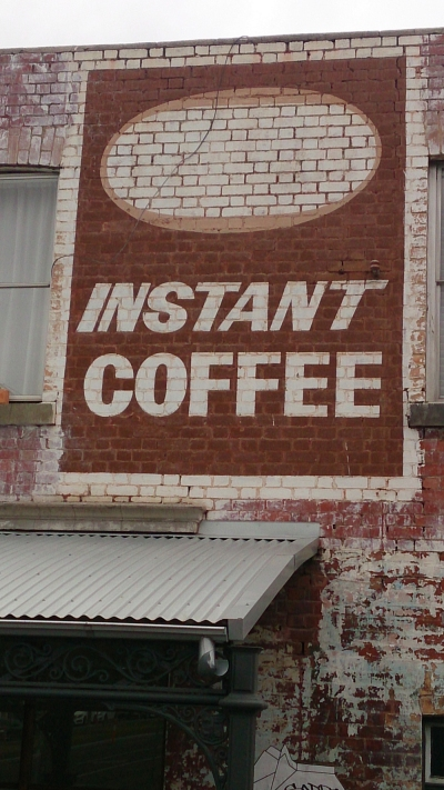Instant coffee ghostsign