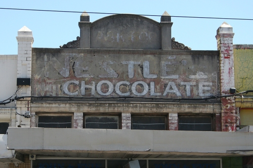 Nestle chocolate ghostsign