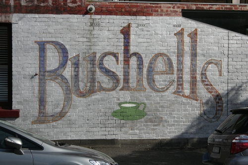 Bushells ghostsign - restored