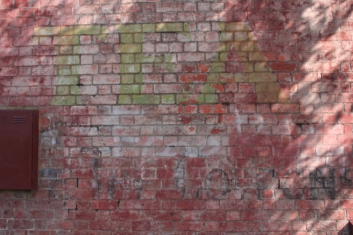 Ghostsign of tea and coupons