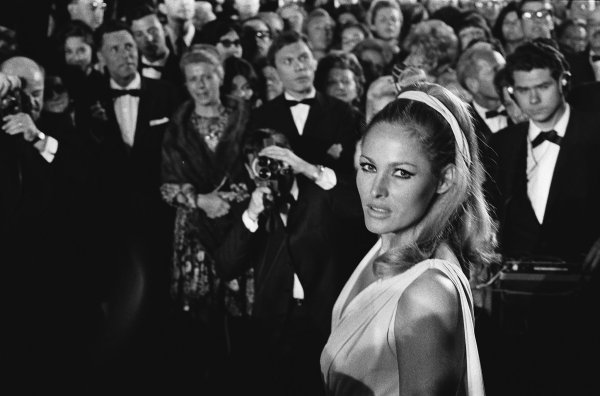 Ursula Andress at Cannes in 1965