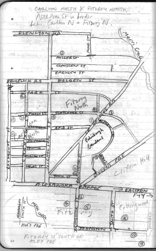 Fitzroy_North_map