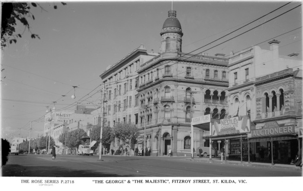 THE GEORGE  THE MAJESTIC FITZROY STREET ST. KILDA VIC.